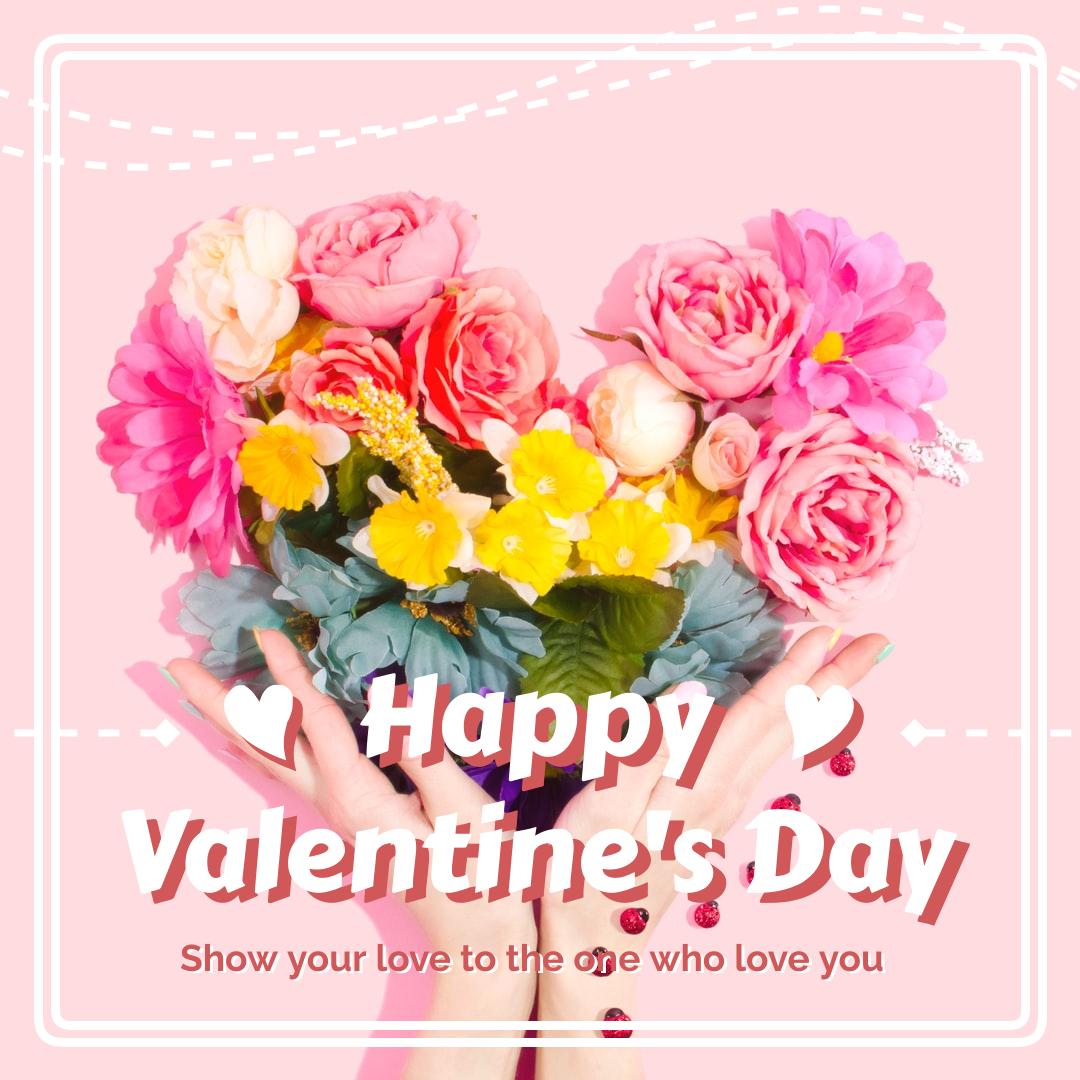 Instagram Post template: Pink Valentine's Day Instagram Post (Created by InfoART's Instagram Post maker)
