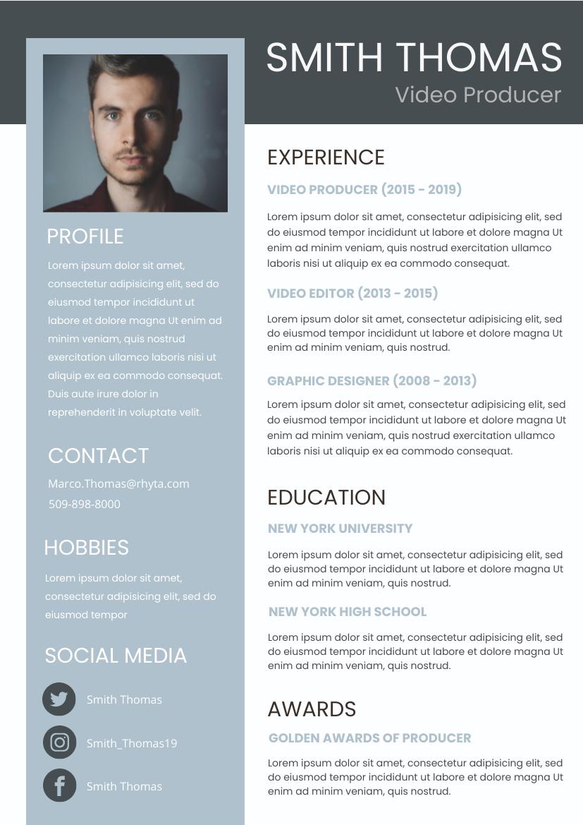 Blue Resume 3