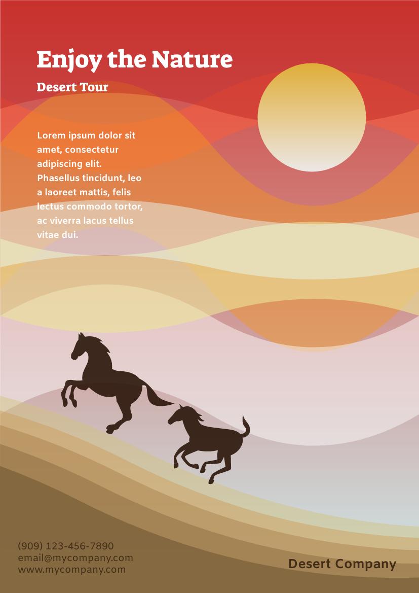 Flyer template: Desert Tour Flyer (Created by InfoART's Flyer maker)