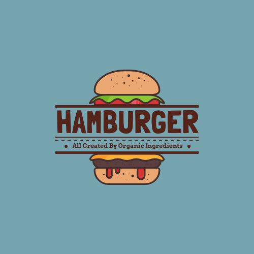 Logo template: Hamburger Logo Created For Western Restaurant (Created by InfoART's Logo maker)