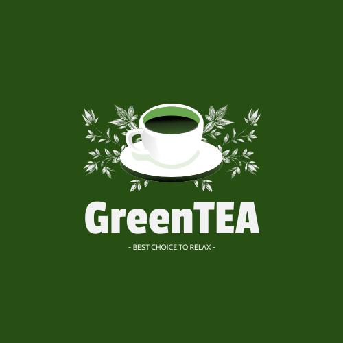 Logo template: Green Tea Logo Generated With Cup And Plants Decorations (Created by InfoART's Logo maker)