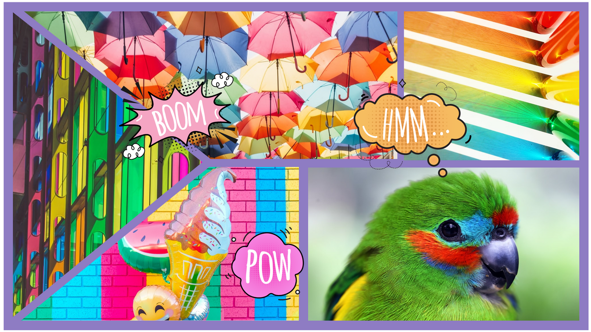 Comic Strip template: Colorful Comic Strip (Created by Collage's Comic Strip maker)