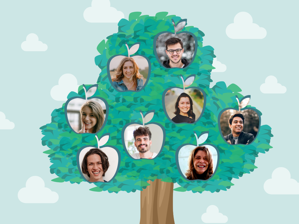 Family Tree template: Apple Tree Family Tree (Created by Collage's Family Tree maker)