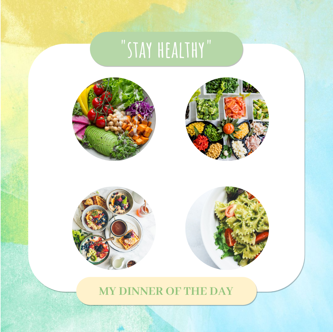 Instagram Post template: Healthy Food Collage Instagram Post (Created by Collage's Instagram Post maker)