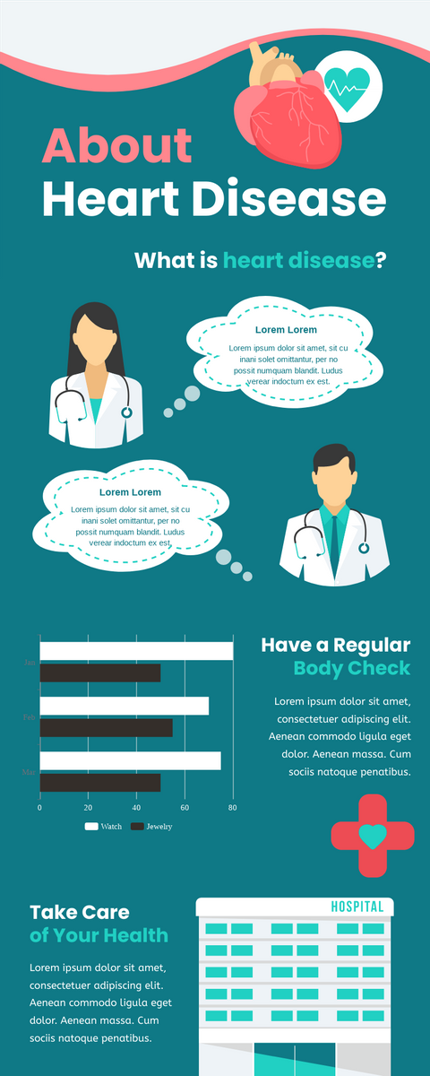 Infographic template: About Heart Disease Infographic (Created by InfoART's Infographic maker)