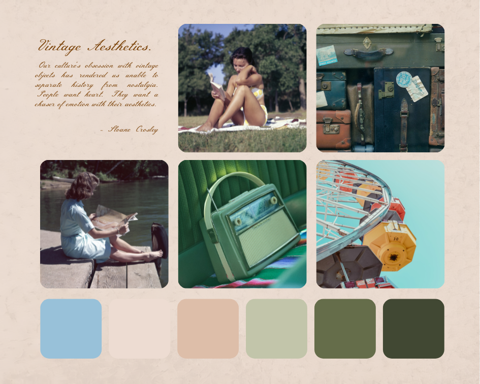 Mood Board template: Vintage Aesthetics Mood Board (Created by Collage's Mood Board maker)