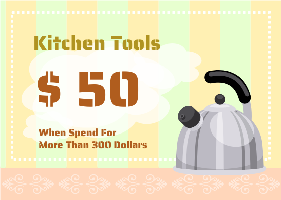 Gift Card template: Kitchen Tools Gift Card (Created by InfoART's Gift Card marker)