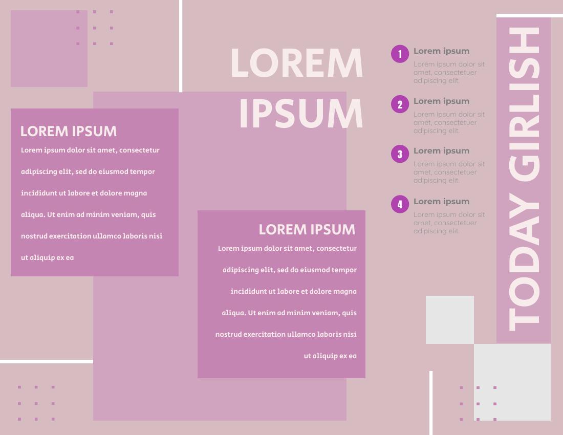 Brochure template: Girlish Graphic Brochure (Created by InfoART's Brochure maker)