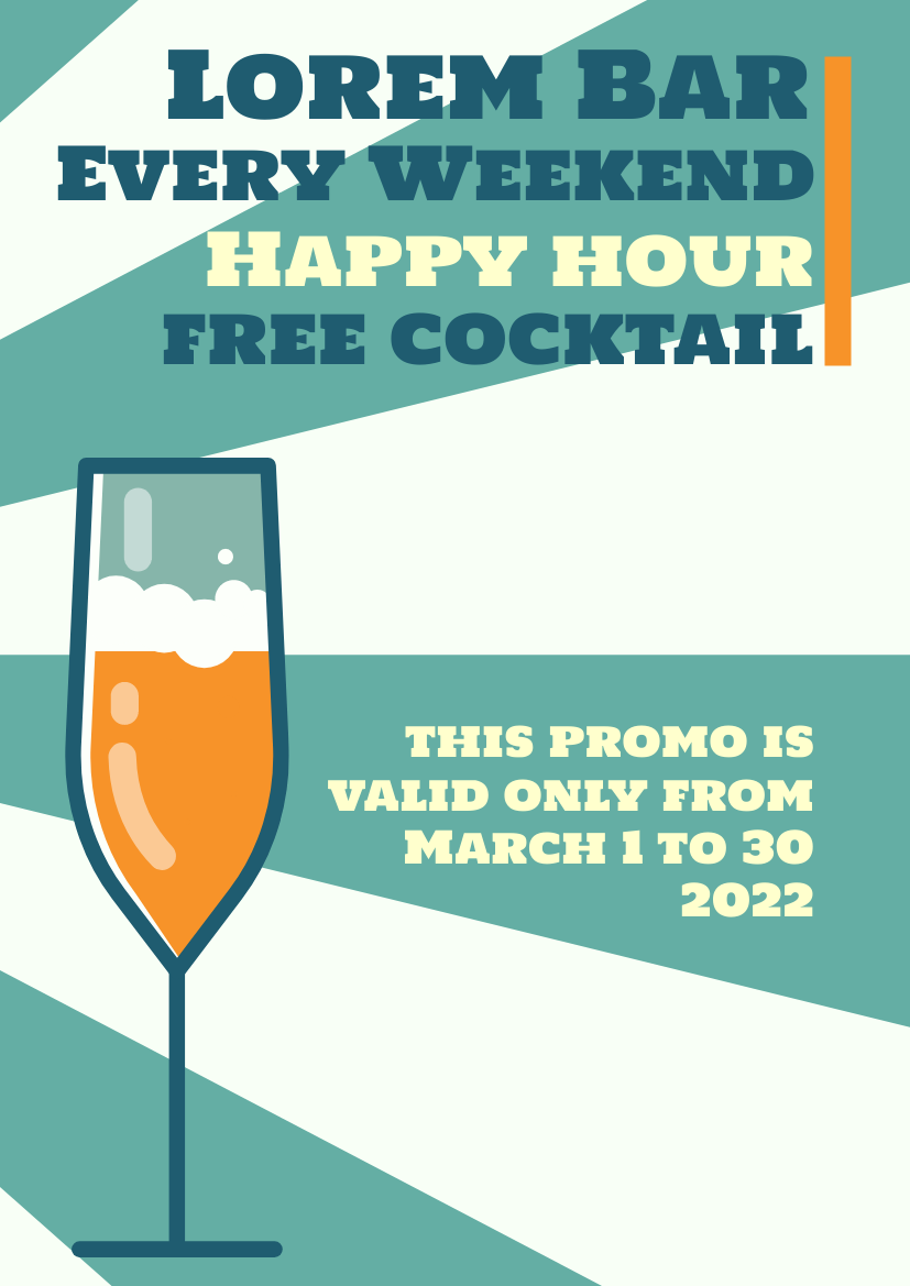 Flyer template: Cocktail Promotion Flyer (Created by InfoART's Flyer maker)