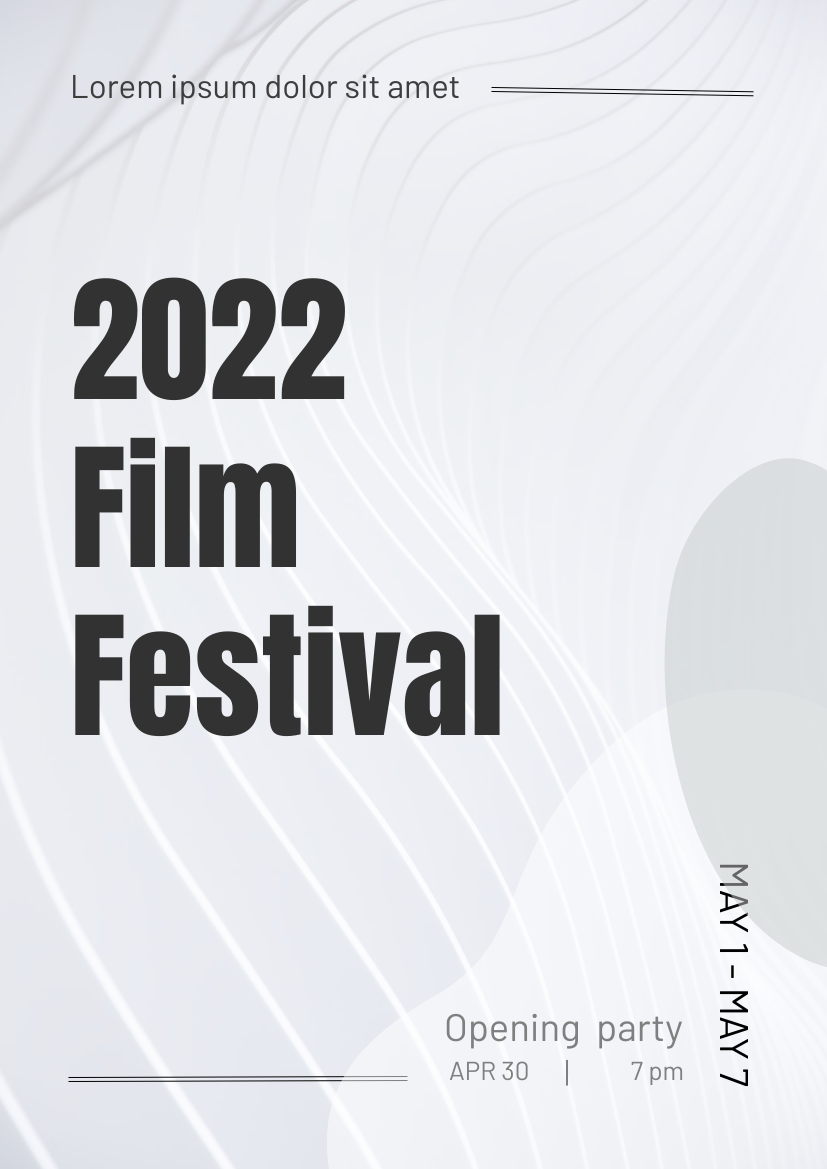 Flyer template: Film Festival Promotion Flyer (Created by InfoART's Flyer maker)