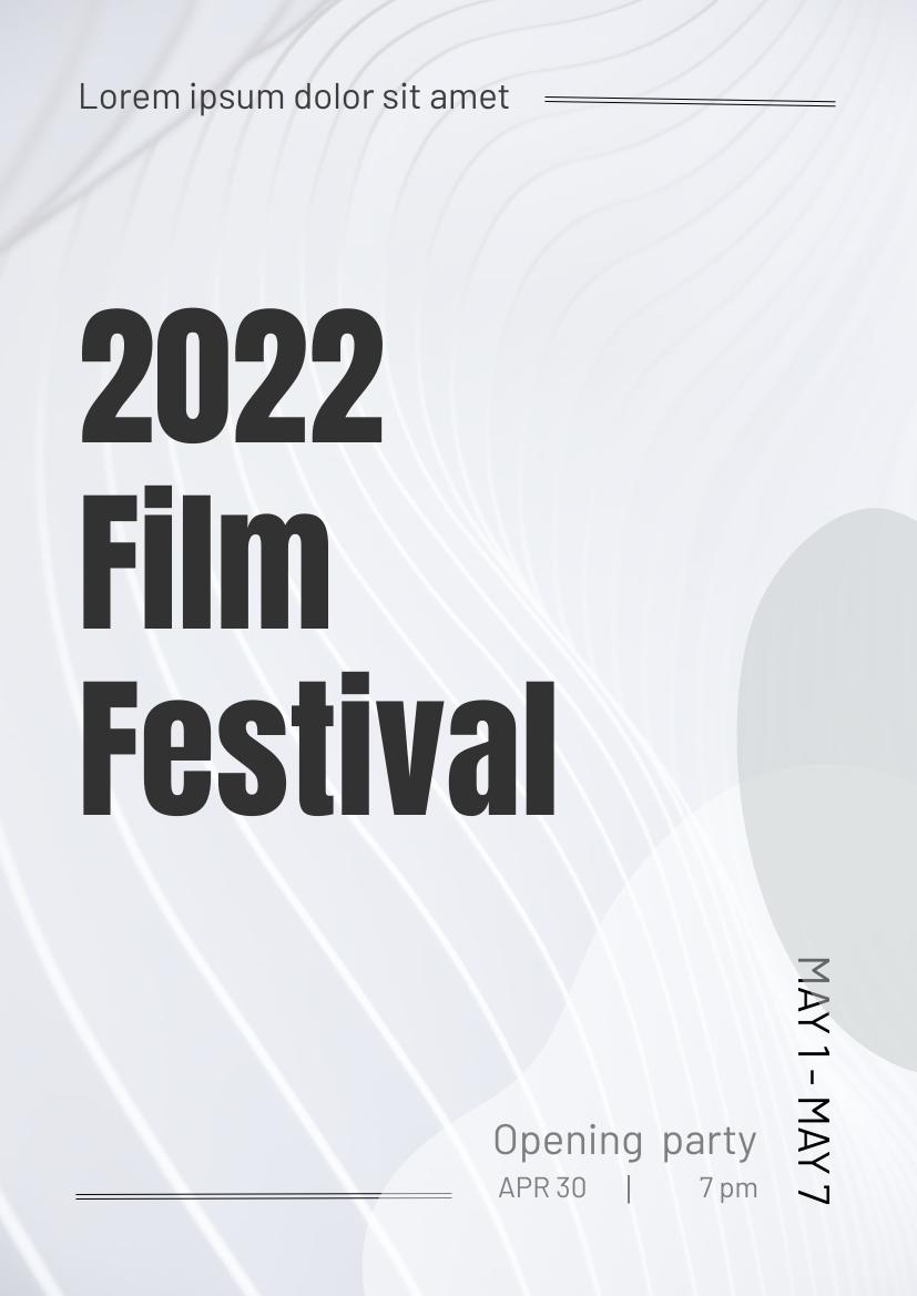 Flyer template: Film Festival (Created by InfoART's Flyer maker)