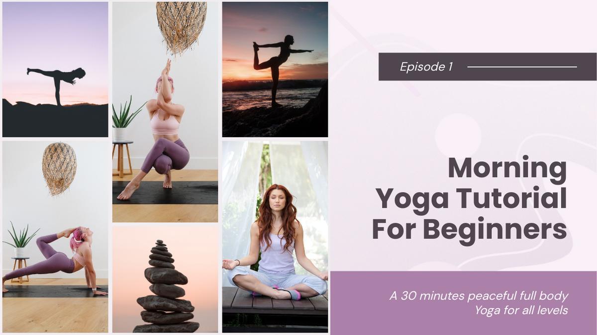 YouTube Thumbnail template: Morning Yoga Tutorial YouTube Thumbnail (Created by Collage's YouTube Thumbnail maker)
