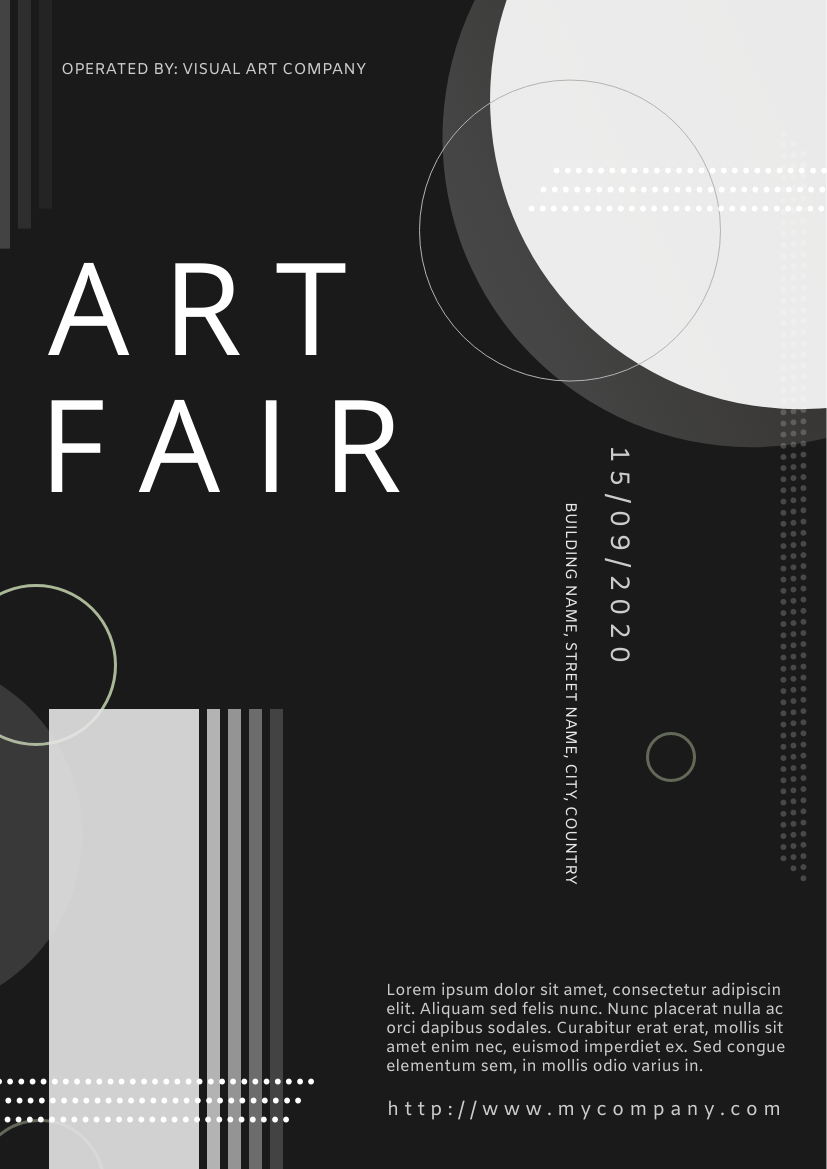 Flyer template: Art Fair Flyer (Created by InfoART's Flyer maker)