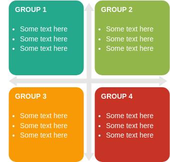 Matrix Block Diagram template: Grid Matrix (Created by Diagrams's Matrix Block Diagram maker)