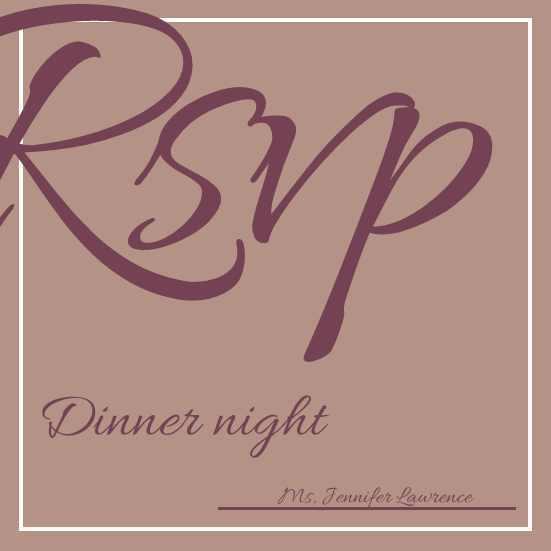 Invitation template: Dinner Night Invaitation (Created by InfoART's Invitation marker)