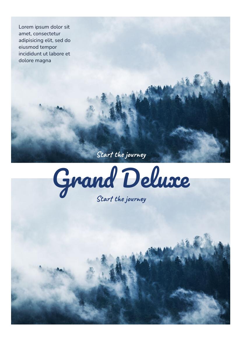 Flyer template: Grand Deluxe Flyer (Created by InfoART's Flyer maker)
