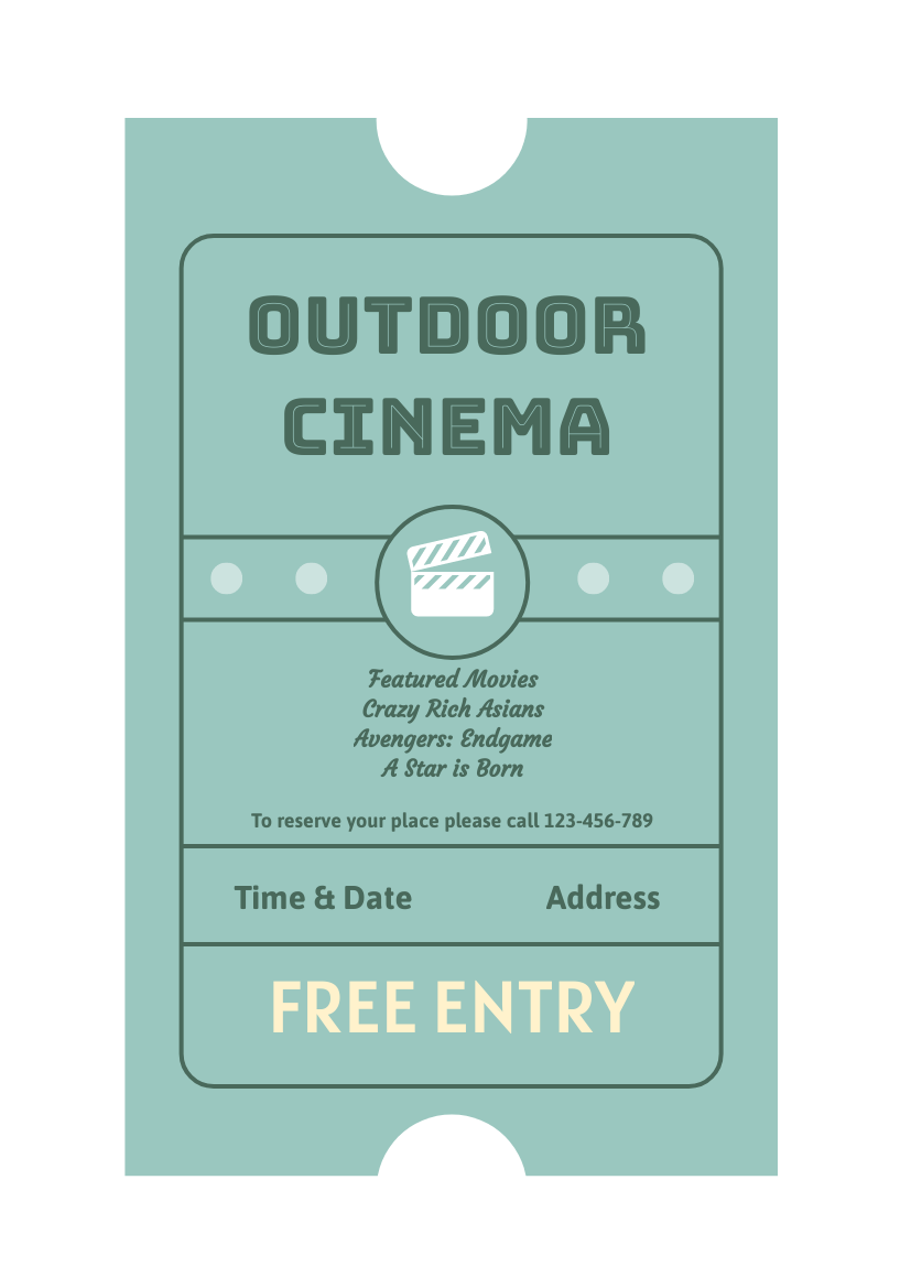 Outdoor Cinema Flyer