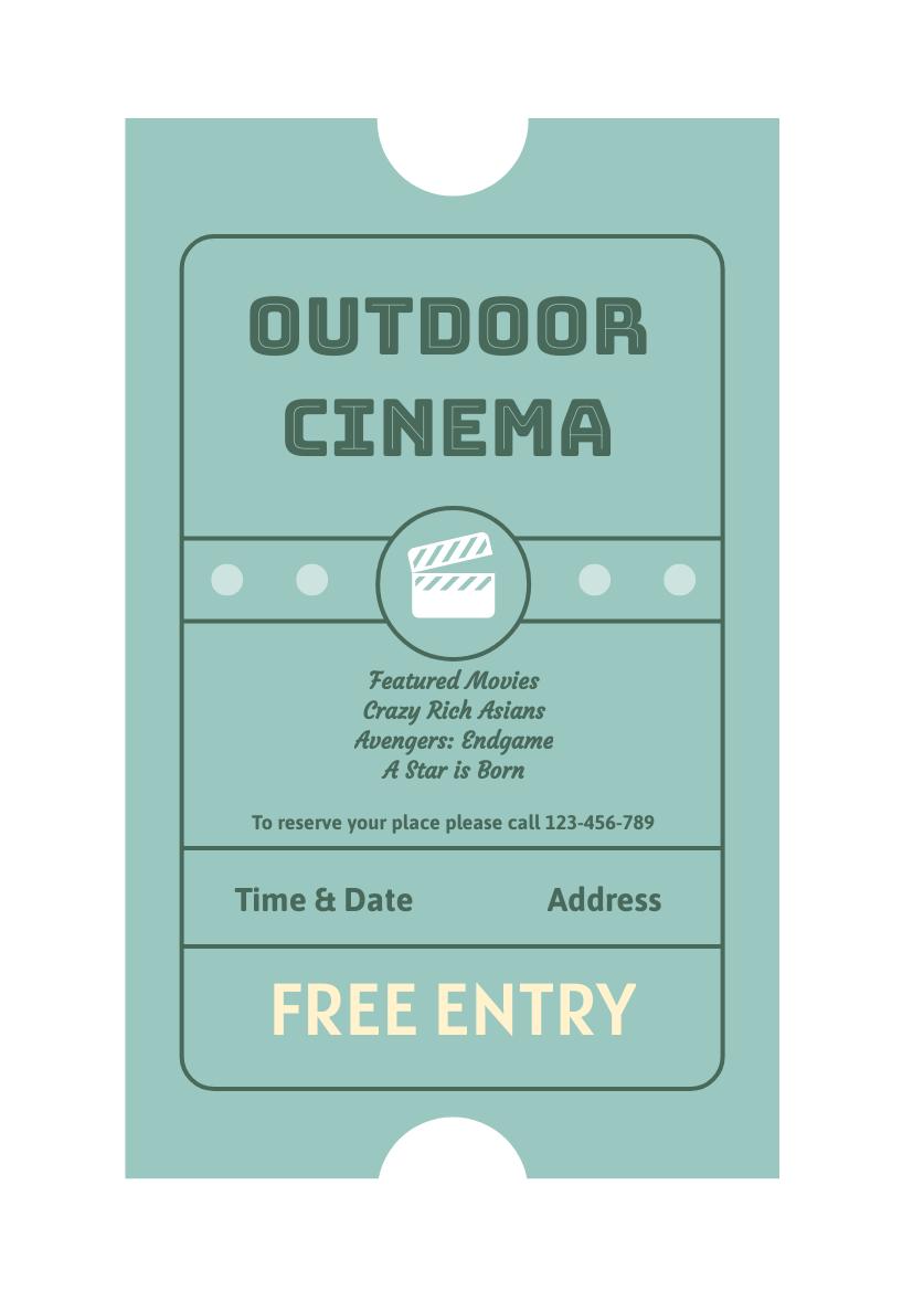 Flyer template: Outdoor Cinema Flyer (Created by InfoART's Flyer maker)