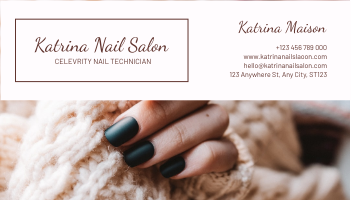 Business Card template: Brown Nail Salon Business Card (Created by InfoART's Business Card maker)