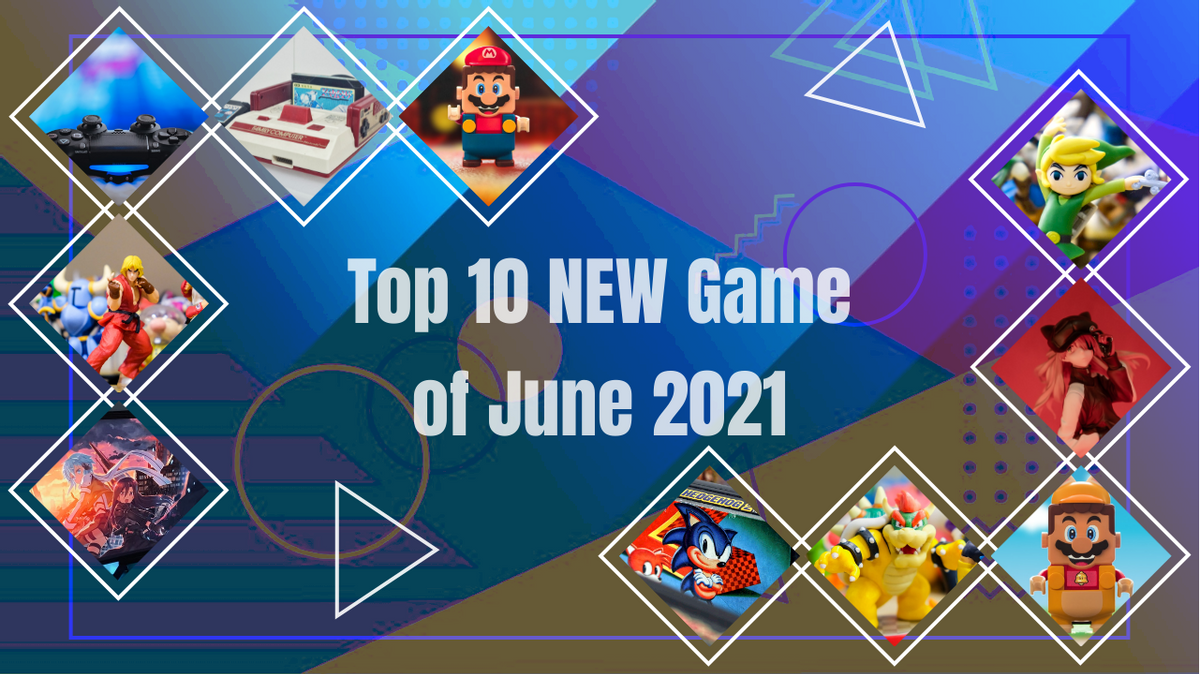 YouTube Thumbnail template: Top 10 NEW Game of June 2021 YouTube Thumbnail (Created by Collage's YouTube Thumbnail maker)