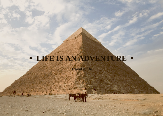 Post Card template: Life Is An Adventure Post Cards (Created by InfoART's Post Card marker)
