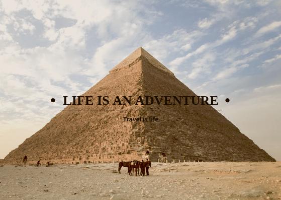 Postcard template: Life Is An Adventure Postcard (Created by InfoART's Postcard maker)