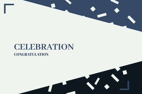 Greeting Card template: Congratulations Blue Card (Created by InfoART's Greeting Card marker)
