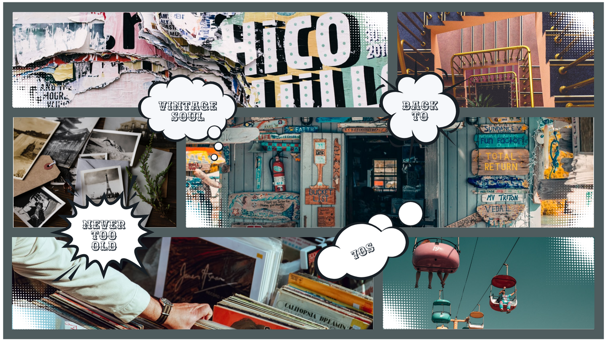 Comic Strip template: Back To 70s Vintage Comic Strip (Created by Collage's Comic Strip maker)