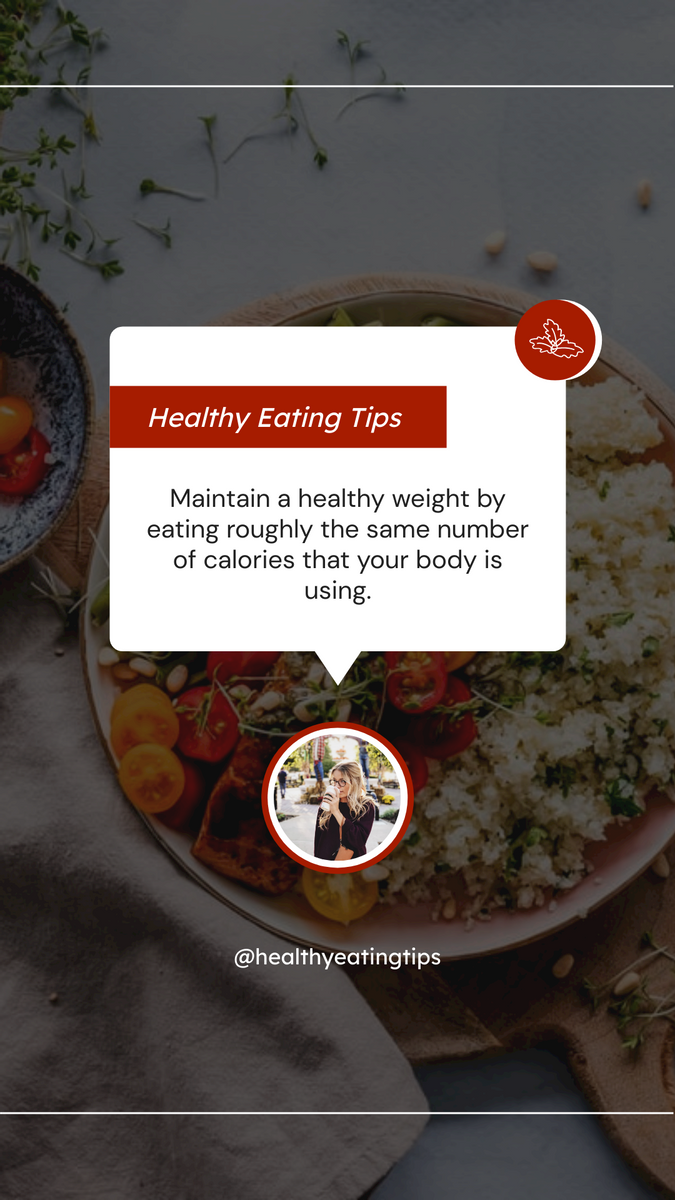 Instagram Story template: Healthy Eating Tips Instagram Story (Created by InfoART's Instagram Story maker)
