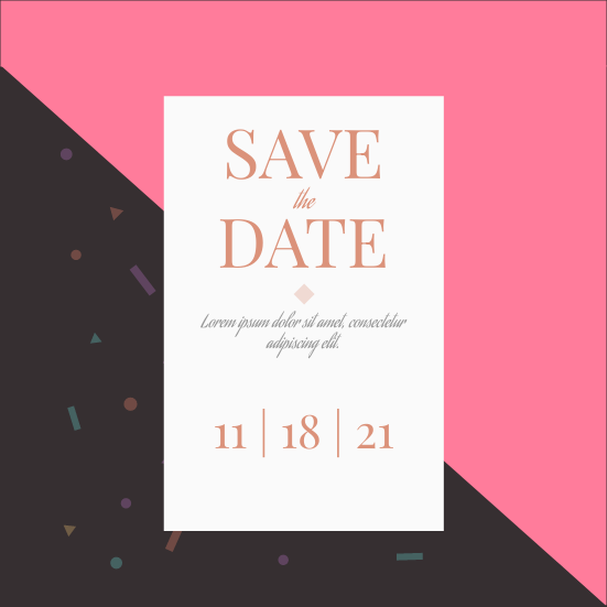 Invitation template: Save the Date (Created by InfoART's Invitation marker)