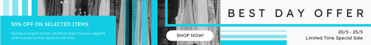 Banner Ad template: Best Day Offer Shopping Banner Ad (Created by InfoART's Banner Ad maker)