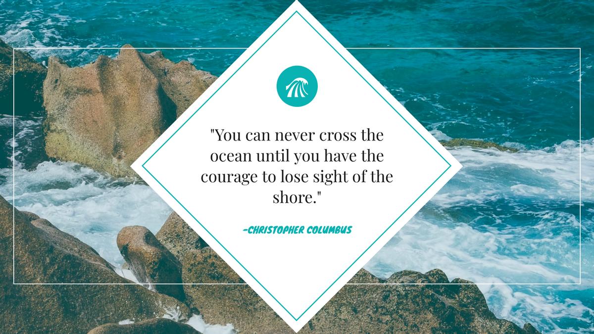 Twitter Post template: Ocean Inspirational Quote Twitter Post (Created by InfoART's Twitter Post maker)