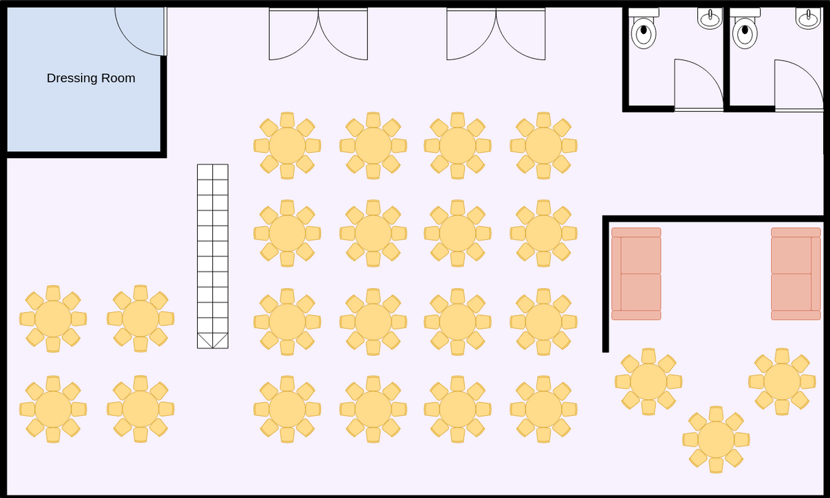 Banquet Hall Seating Plan (Seating Chart Example)