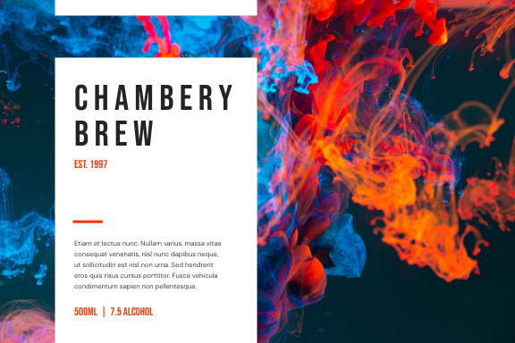 Label template: Wine Drinks Alcohol Pattern Label (Created by InfoART's Label maker)