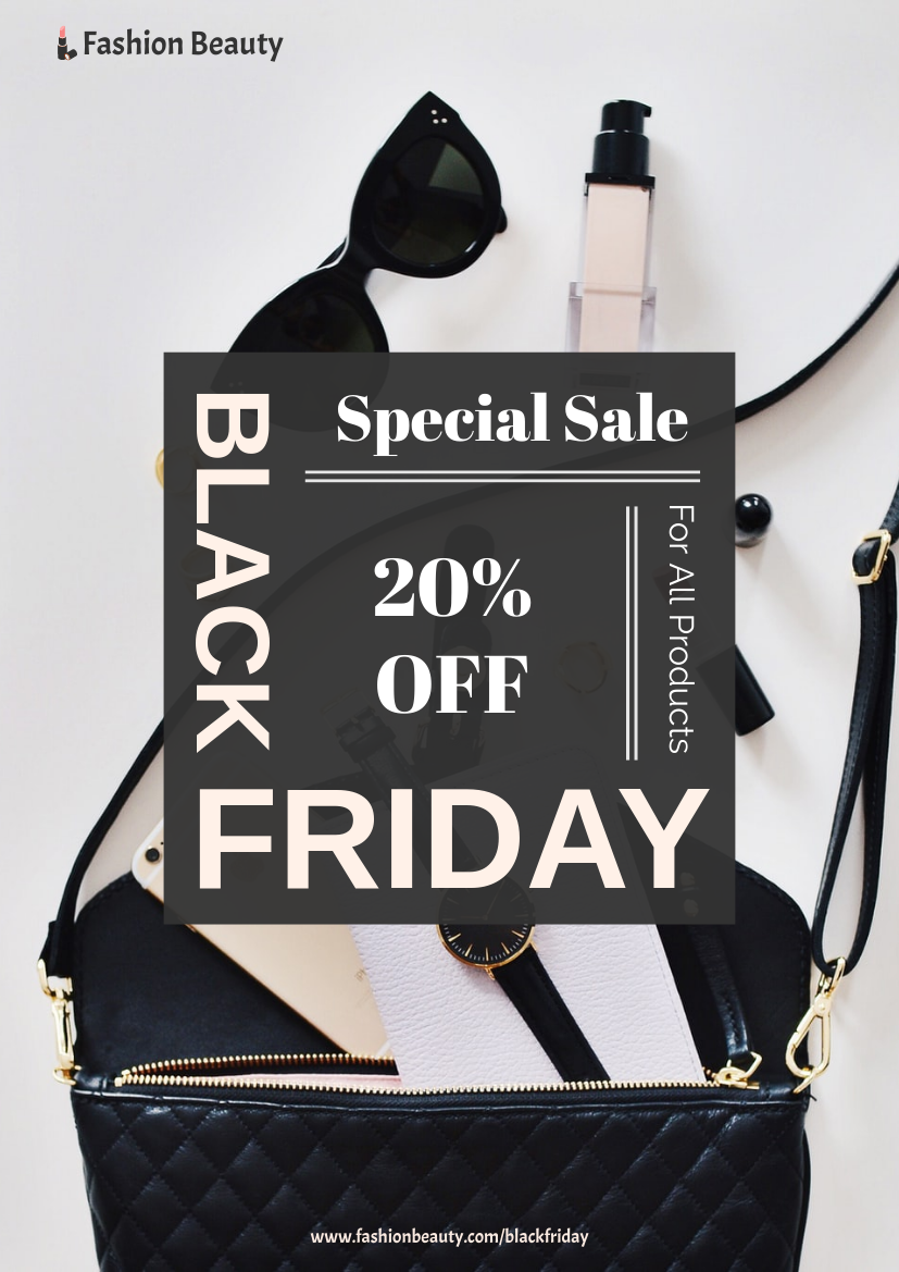 Flyer template: Handbag Black Friday Flyer (Created by InfoART's Flyer maker)