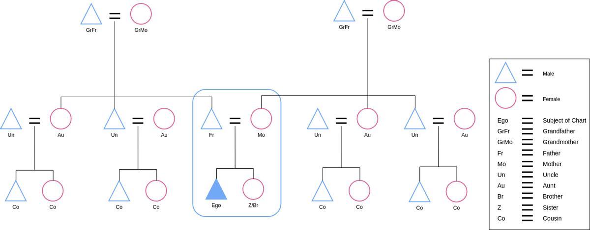 Eskimo Kinship Chart (Kinship Diagram Example)