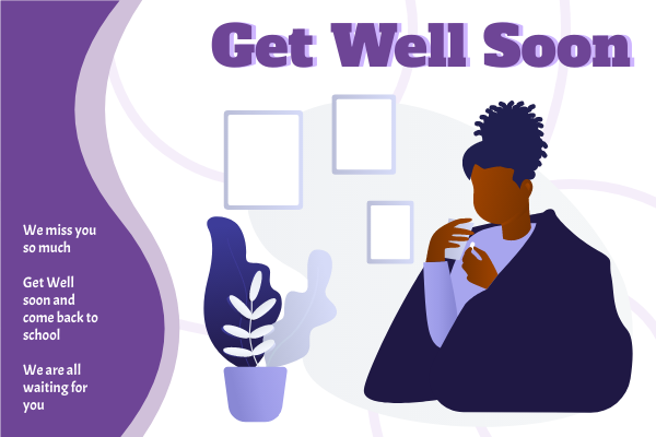 Greeting Card template: Get Well Soon Illustrated Greeting Card (Created by InfoART's Greeting Card marker)