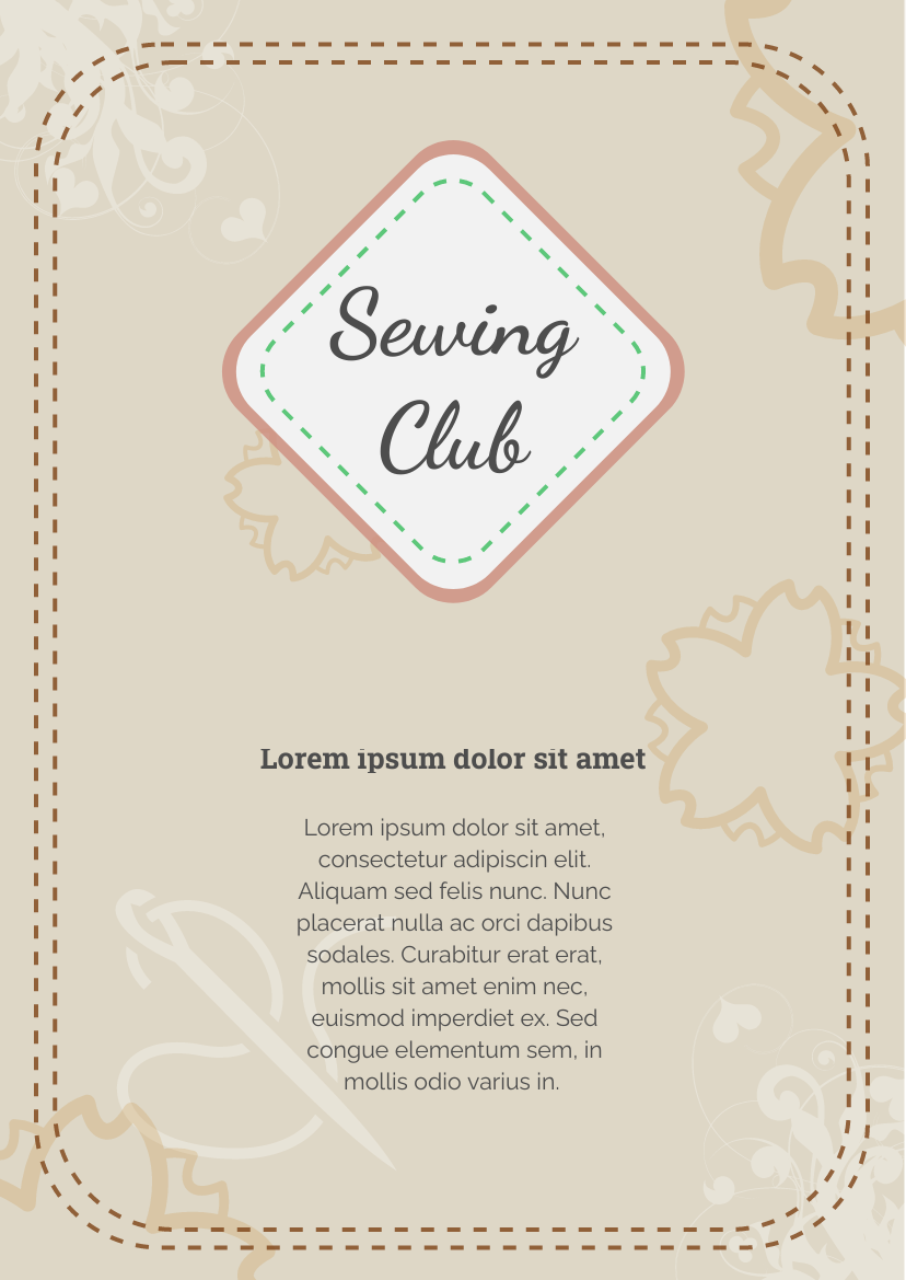Sewing Club Flyer
