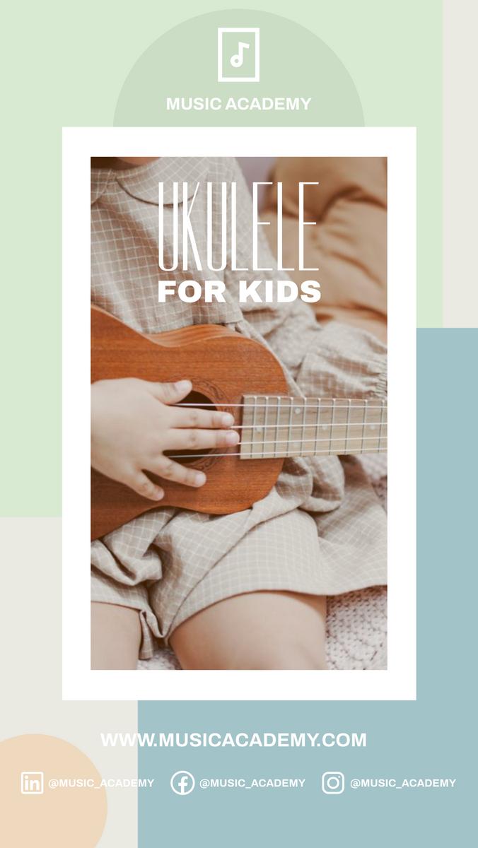 Instagram Story template: Ukulele For Kids Promote Instagram Story (Created by InfoART's Instagram Story maker)