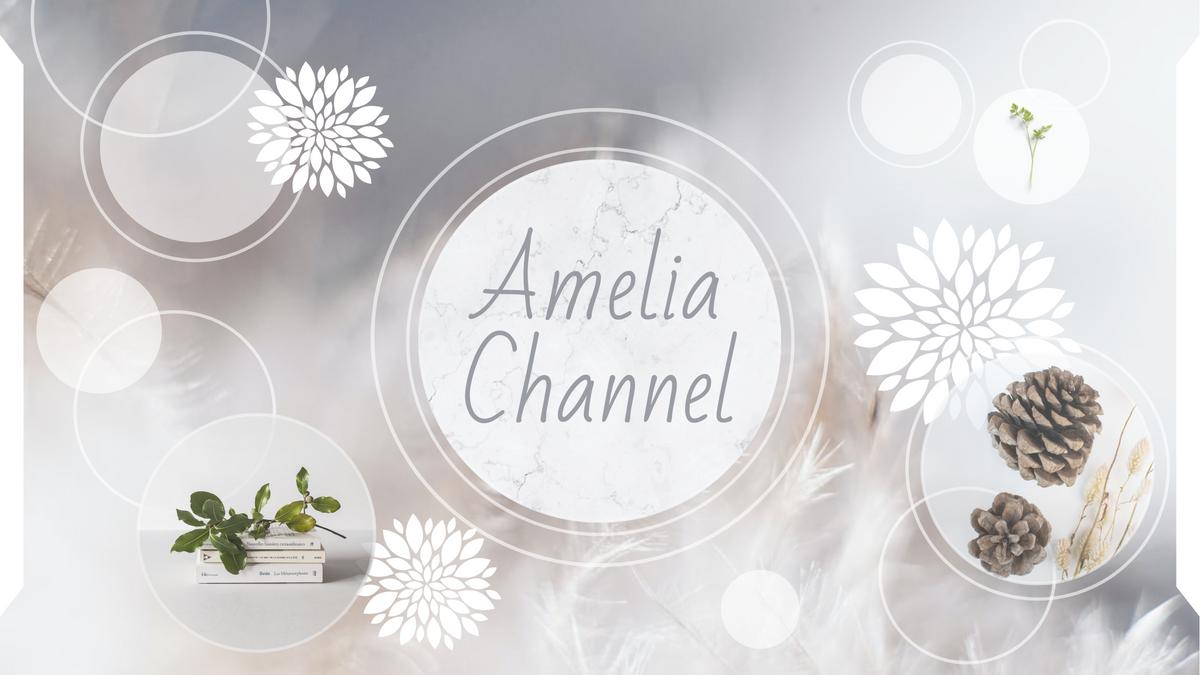 YouTube Channel Art template: Amelia Channel YouTube Channel Art (Created by Collage's YouTube Channel Art maker)