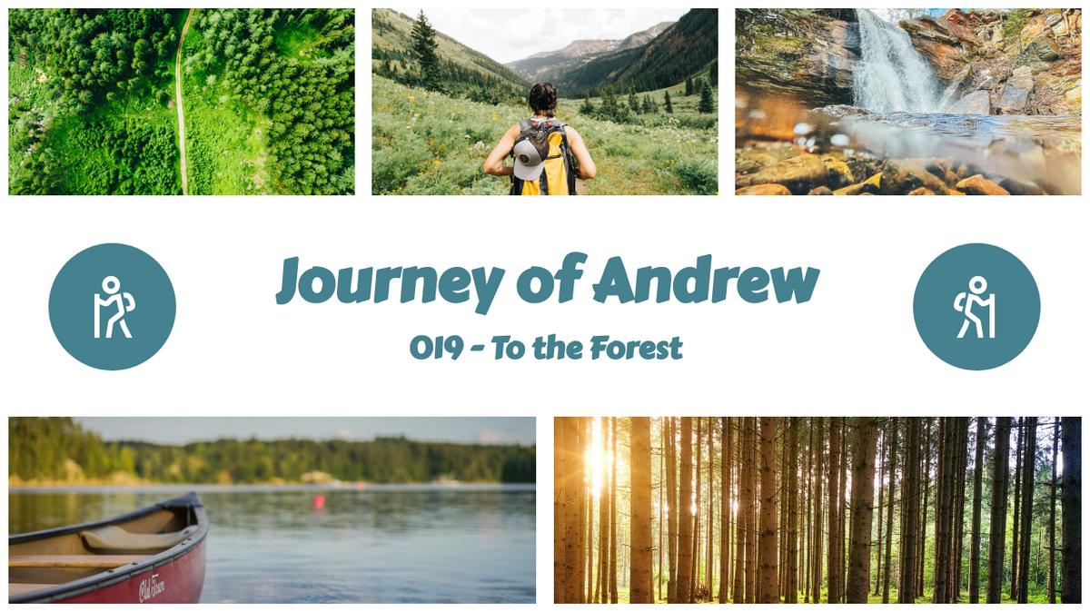 YouTube Thumbnail template: Hiking Journey YouTube Thumbnail (Created by Collage's YouTube Thumbnail maker)