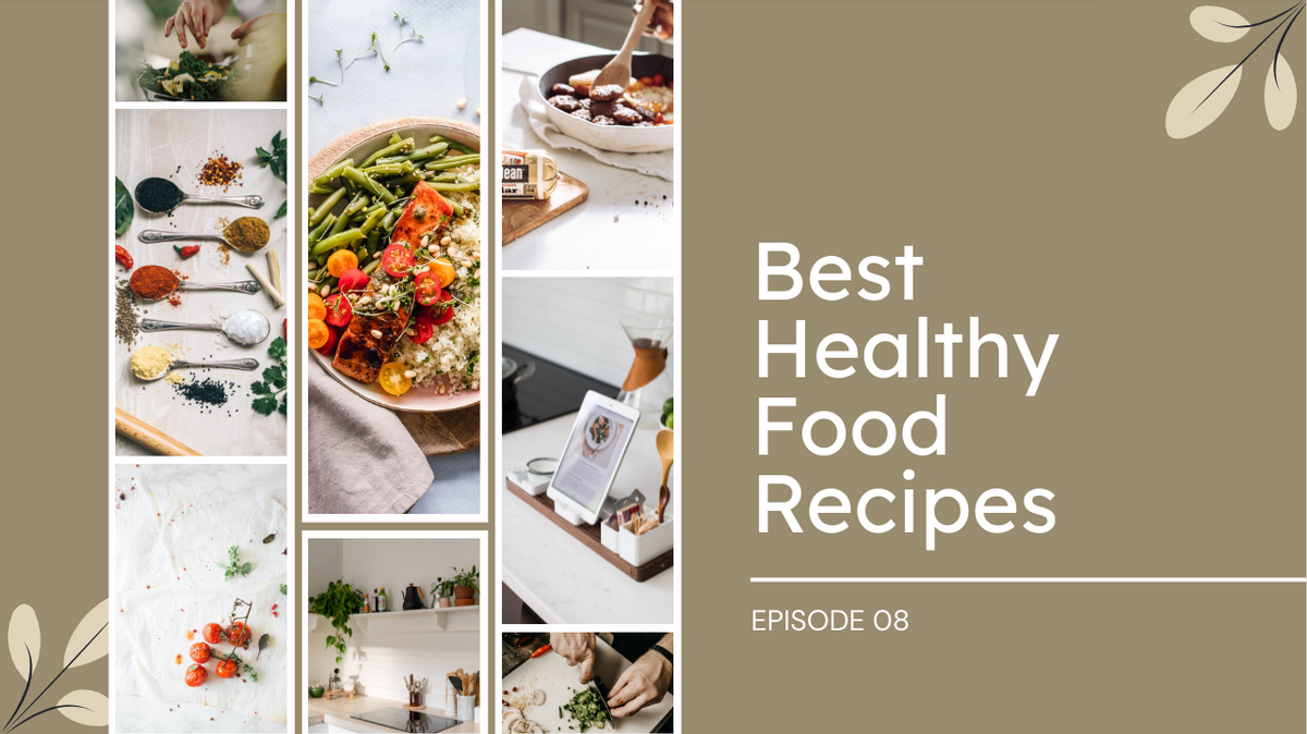 YouTube Thumbnail template: Best Healthy Food Recipes YouTube Thumbnail (Created by Collage's YouTube Thumbnail maker)