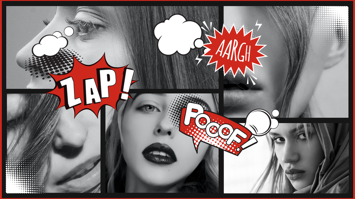Comic Strip template: Woman Chic Comic Strip (Created by Collage's Comic Strip maker)