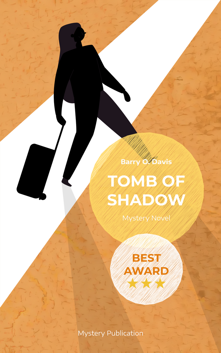 Book Cover template: Mystery Shadow Book Cover (Created by InfoART's Book Cover maker)