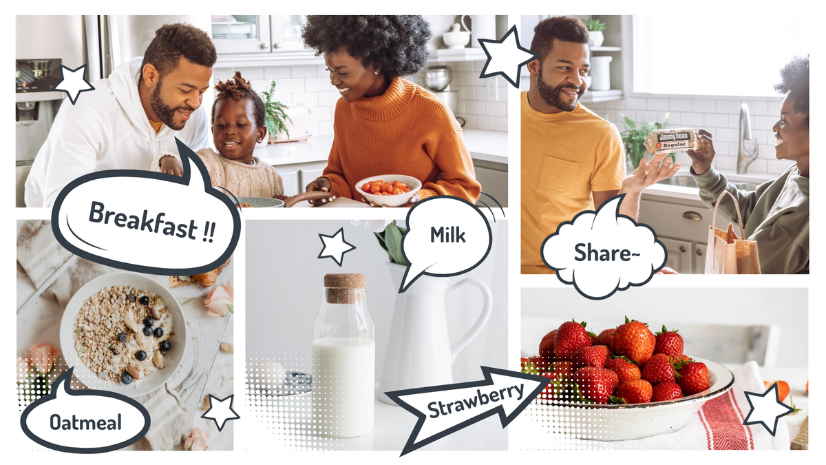 Comic Strip template: Breakfast Comic Strip (Created by Collage's Comic Strip maker)