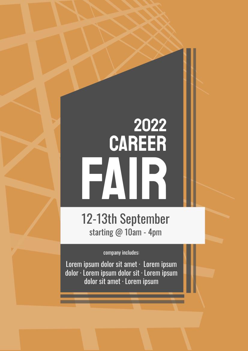 Flyer template: Career Fair 2020 (Created by InfoART's Flyer maker)