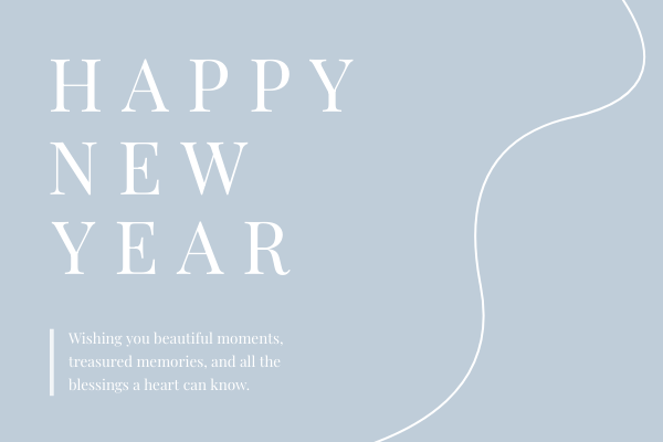 Greeting Card template: Happy New Year Card (Created by InfoART's Greeting Card maker)