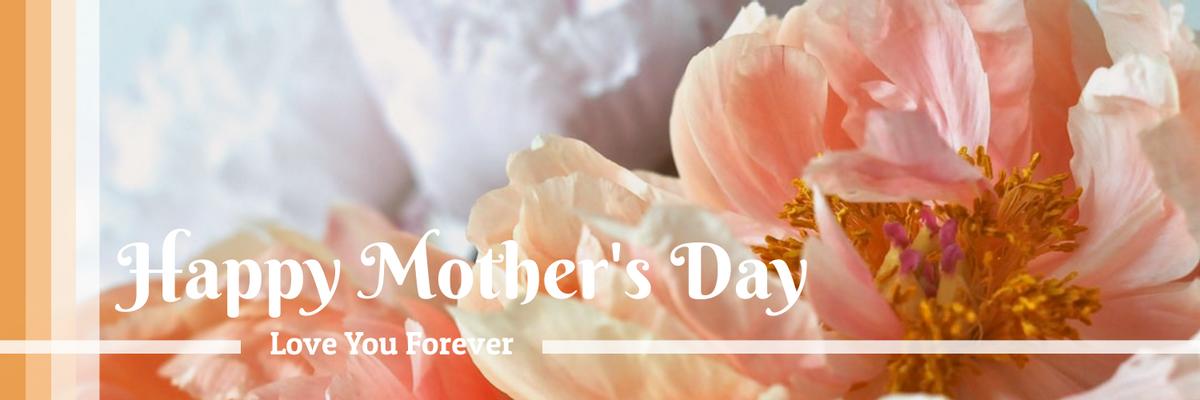 Twitter Header template: Floral Photography Mother's Day Twitter Header (Created by InfoART's Twitter Header maker)