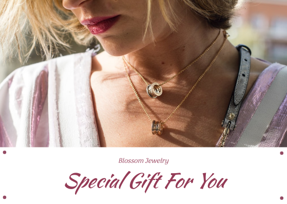 Gift Card template: Purple Jewelry Photo Special Gift For You Gift Card (Created by InfoART's Gift Card maker)