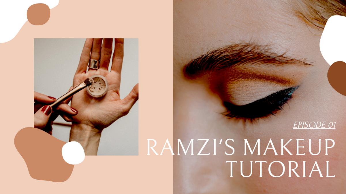 YouTube Thumbnail template: Beauty Makeup Tutorial Class YouTube Thumbnail (Created by InfoART's YouTube Thumbnail maker)